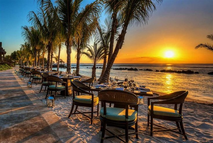 Have a sunset meal with the sand between your toes at The Westin Turtle Bay Resort & Spa, #Mauritius