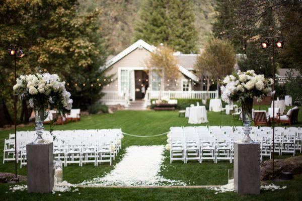 Elegant Backyard Wedding Ceremony | photography by http://www.meganclouse.com