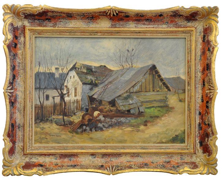 ZDENKA BRAUNEROVÁ (1858-1934, Praha) Outbuilding