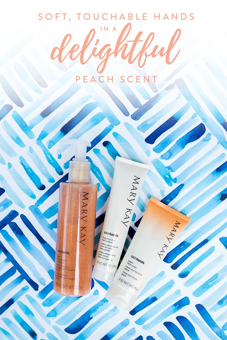 Nothing says summer like a hint of peach! Peach Satin Hands® Pampering Set is an easy, three-step system that helps keep hands feeling renewed, soothed and pampered. Plus, it makes a great gift for your mom, sister or friend! | Mary Kay