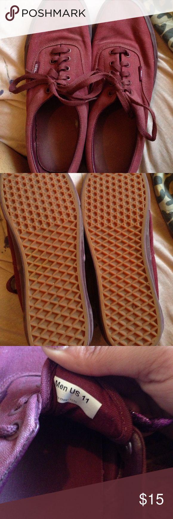 Maroon Vans Maroon vans US Mens size 11 offers welcome Vans Shoes Sneakers