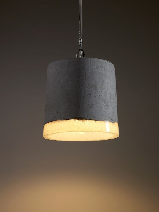 Lights by Renate Vos | #lampshade #lighting #concrete