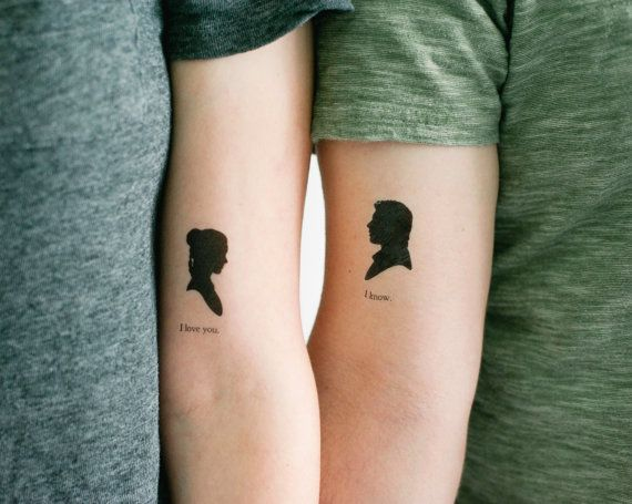 2 star wars han and leia temporary tattoos geektat for Removal of temporary tattoos