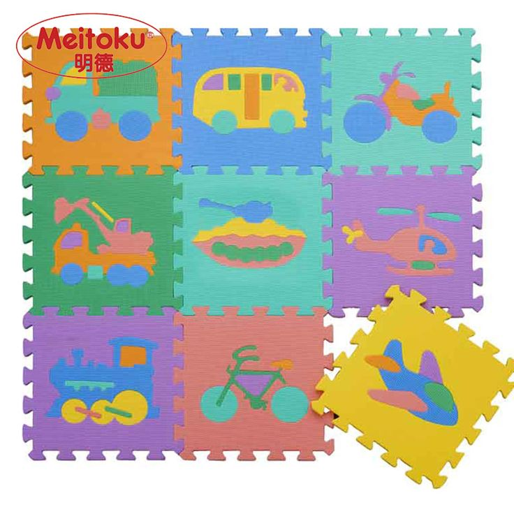 $39.54 - Cool Meitoku baby EVA foam play Puzzle mat / Interlocking Transportation floor mat,Each 30cmX30cm=12 - Buy it Now!