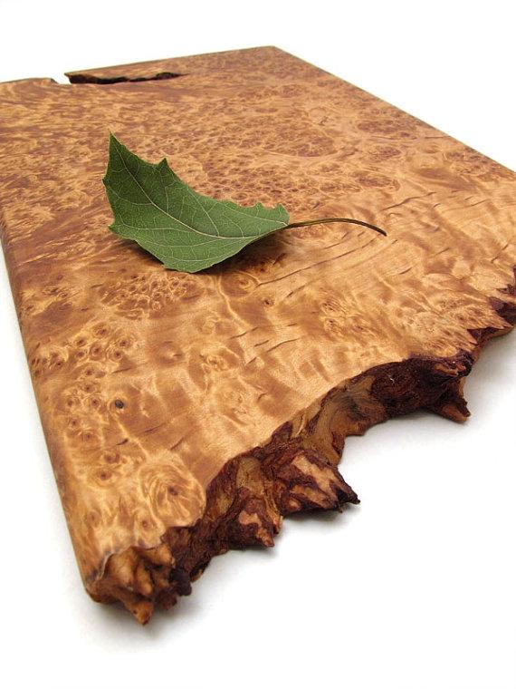 Birch burl serving board. I love this wood.