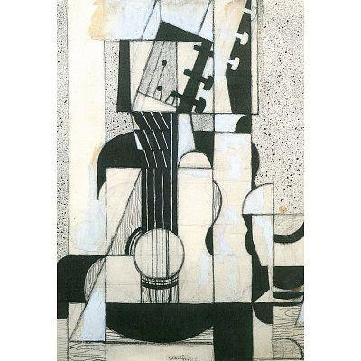 Juan Gris Still Life with Guitar Cubism Art Print Poster - 36x24