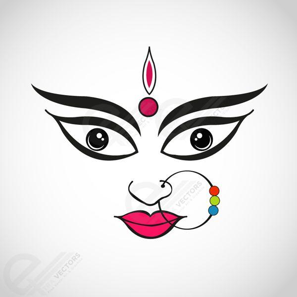 Goddess Durga vector illustration