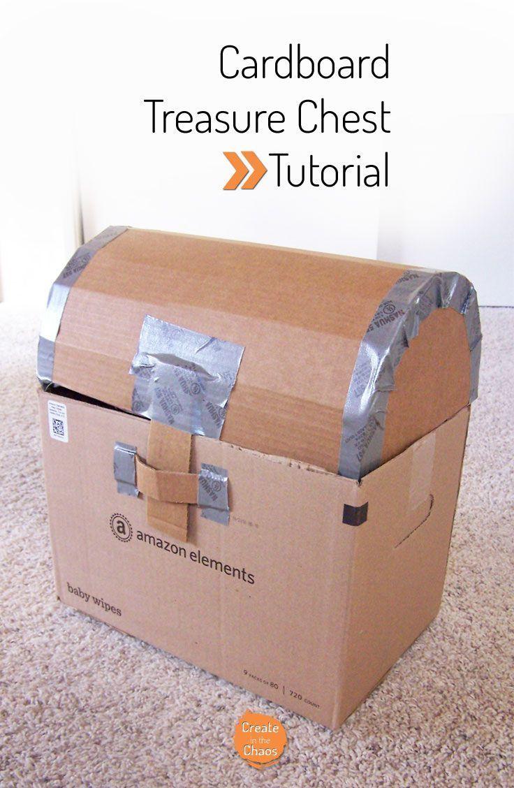 DIY Cardboard treasure chest tutorial www.createinthech...
