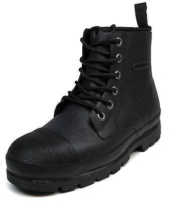 1 Mens Muck Boots Foundation Size 9 to 9.5 Blk Steel-Toe lace Rubber Boot $160