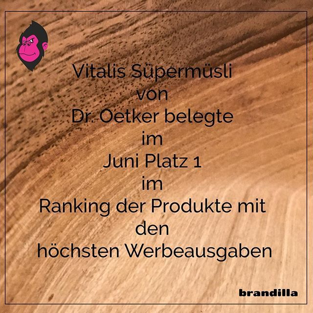 Dr. müsste man sein   #droetker #werbung #advertising #muesli #vitalis #money #offline #marketing #brandilla #brandillame #berlin #bielefeld #kreuzberg #takeaway #takeawaymarketing #startup #startuplife #makegorillasgreatagain