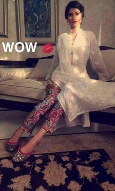 Phulkari Trousers- Pakistani wear for girls | Style.Pk