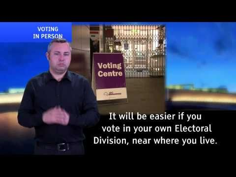 AUSLAN Guide to Enrolling and Voting in Federal Elections and Referendums - YouTube