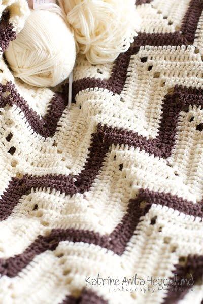 Hekle, crochet, babyteppe, baby blanket, www.katanita.net - Katrine Anitas magiske verden