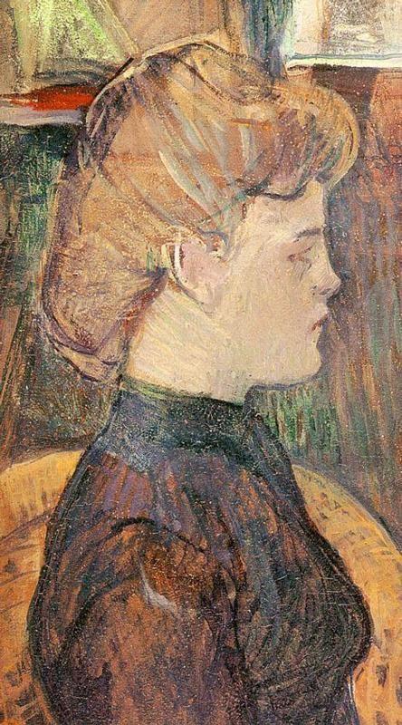 The Painter's Model Helene Vary in the Studio (Henri de Toulouse-Lautrec - 1889)