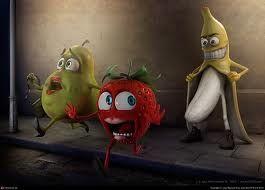 Una imagen divertida de un poco de fruta! -  Een grappig beeld van wat fruit! -