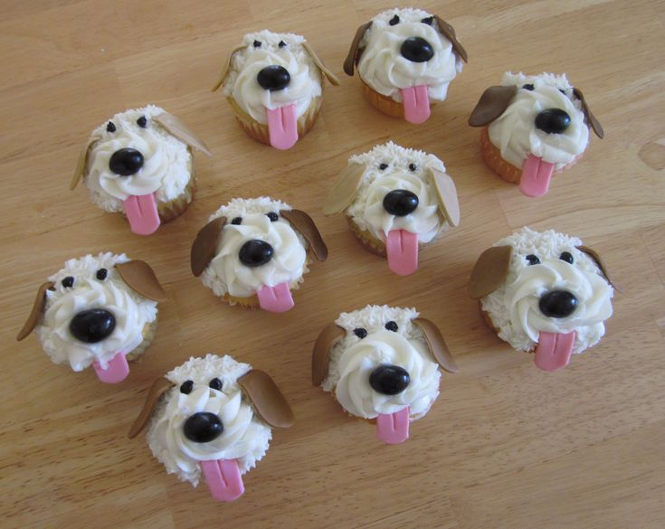 Puppy Cupcakes!  I recently made these for a birthday party.  Check out my blog @ http://myclairescupcakes.wordpress.com/