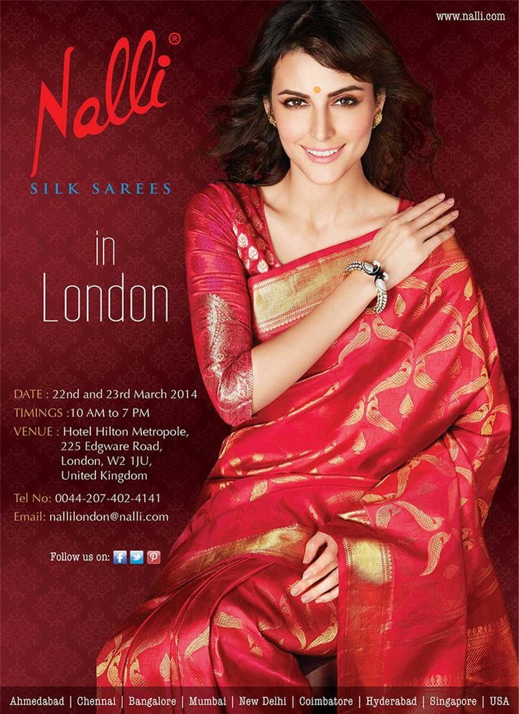 Nalli Silks In London 22nd And 23rd March 2014 At Hotel Hilton Metropole