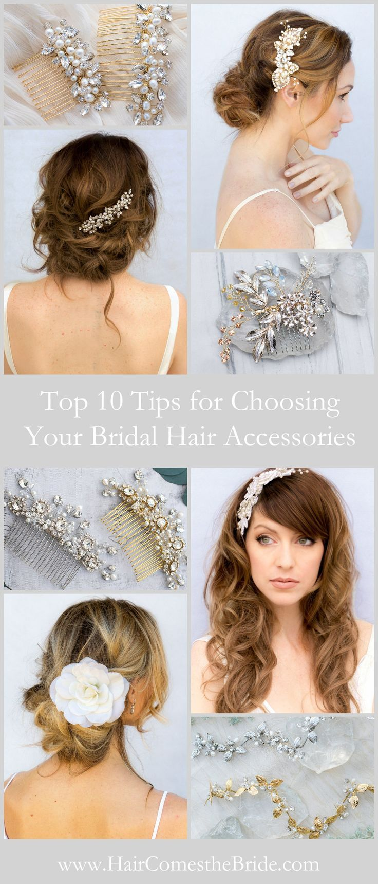 Expert advice for choosing the perfect hair accessories to complete your wedding day look.