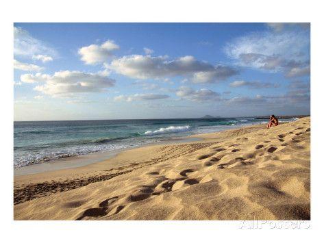 Beach at Ponta do Sino near Santa Maria, Island of Sal, Cape Verde Kunstdruk