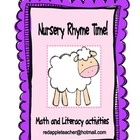 This Free 37 page unit contains some great response activities for popular nursery rhymes.