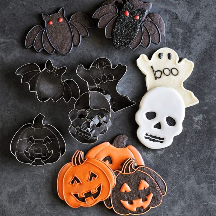 Halloween Impression Cookie Cutters, Set of 4