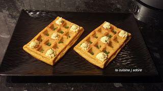 la cuisine j adore : GAUFRE DE PATATES DOUCES, FROMAGE FRAIS AU CURCUMA...