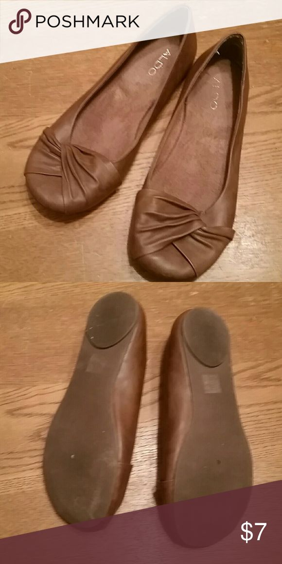 Brown ballet shoes Gently worn excellent condition Aldo Shoes Flats & Loafers
