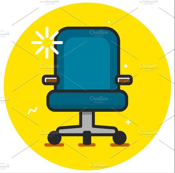 Armchair icon Graphics Business armchair office icon illustration desing rasterized by YashkovskiyMD