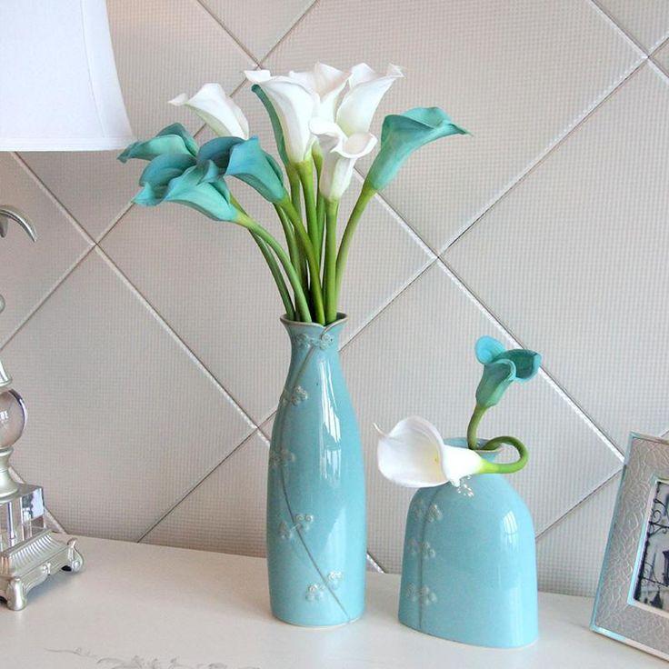 самые популярные искусственный моделирование калла лили цветы букет сад главная свадебный декор растения
