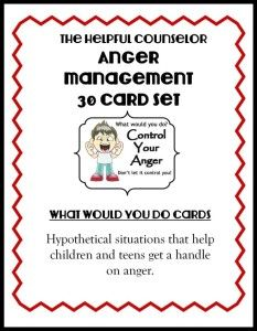 Anger Management Free Printable: Problem Solving - The Helpful Counselor