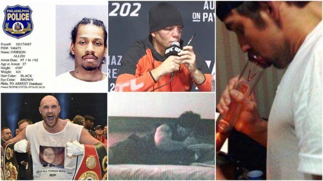 Phelps, Maradona, Iverson, y otros 7 deportistas 'pillados' consumiendo drogas | MARCA Claro México http://www.marca.com/claro-mx/otros-deportes/futbol-americano/2017/10/09/59db9a15e2704e337a8b46db.html