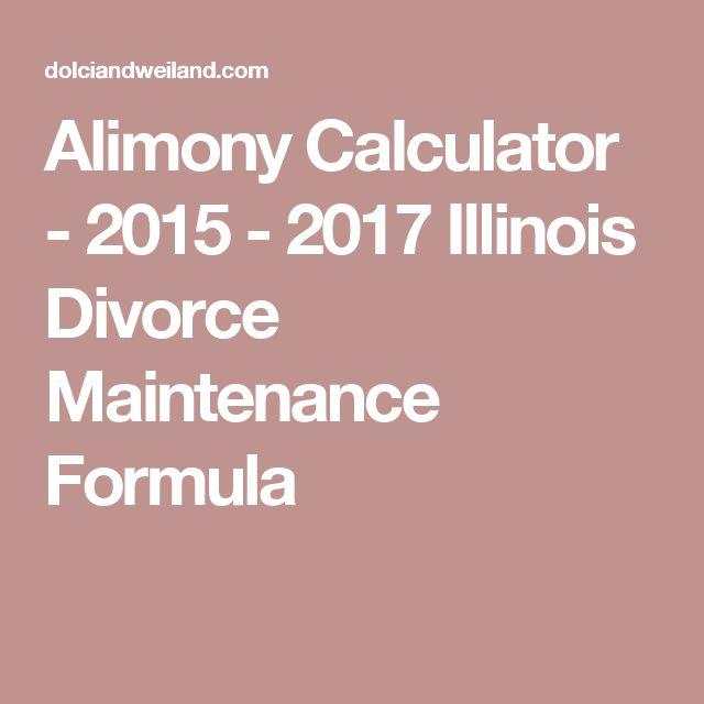 Alimony Calculator - 2015 - 2017 Illinois Divorce Maintenance Formula