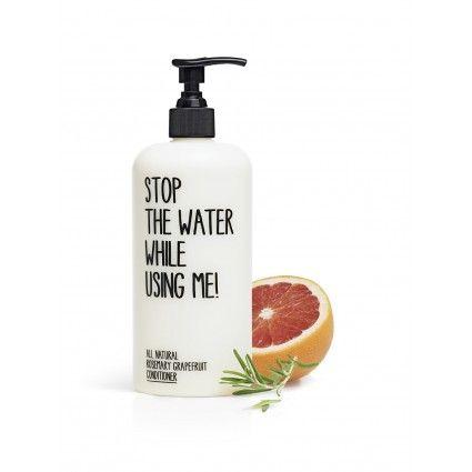 Fantástico acondicionador natural de cosmética ecológica hecho de romero y pomelo de la marca Stop the water while using me