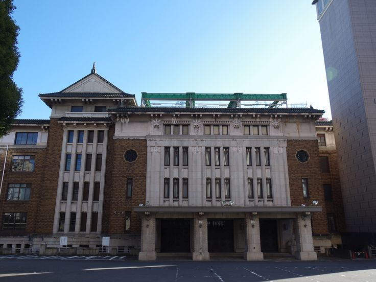 "Kudan Kaikan, built in 1934. It had used ""Army Hall"" by Imperial Army and GHQ. Already closed."