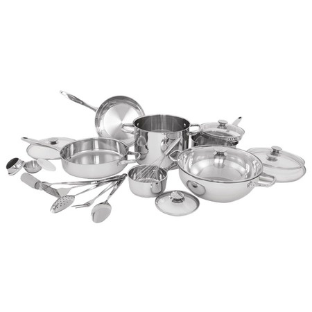 I pinned this 20 Piece Wolfgang Puck Cookware Set from the Cookware Under $200 event at Joss & Main!