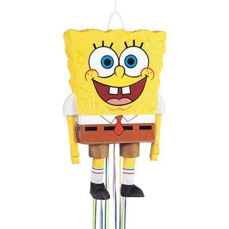 Unique Industries 8645826 Pull Pinata-spongebob Squarepants 3d 23 inchx14 inch, Multicolor