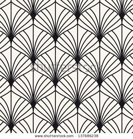 Seamless pattern. Persian antique ornament. Geometric stylish background. Vector repeating texture by Curly Pat, via ShutterStock