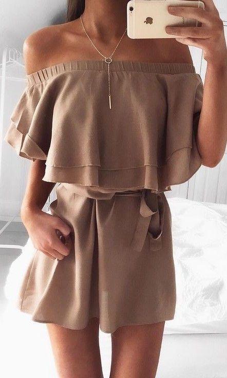 #summer #fashion / camel playsuit