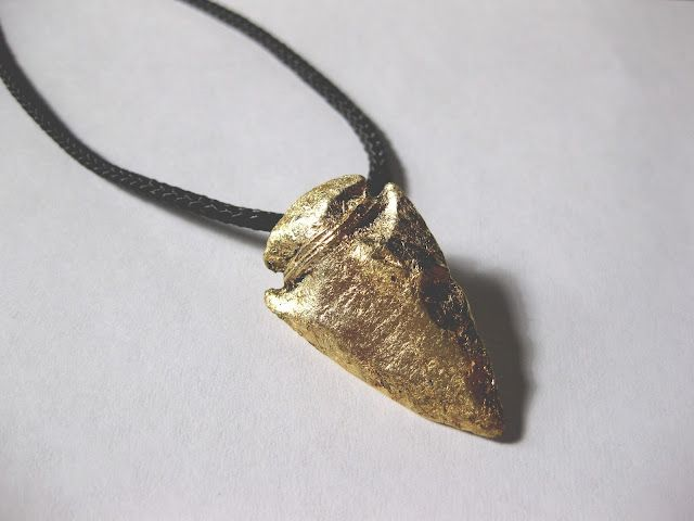 11 best arrow head necklace diy images on pinterest arrow head diy gold arrowhead necklace aloadofball Gallery