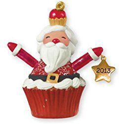 Santa Cupcake 2013 Hallmark Christmas Cupcake Ornament