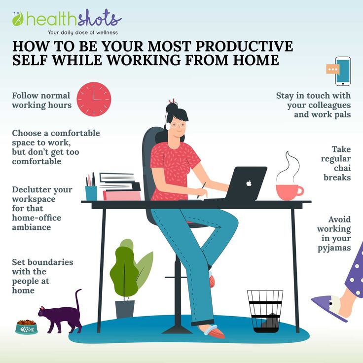 How to be your most productive self while working from
