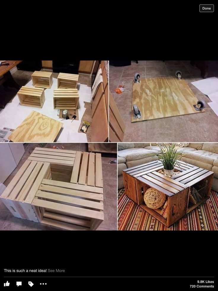 Wooden crate project these are only $12 each at Joanne's! This is SO tempting, especially since I am tired of my old coffee table!
