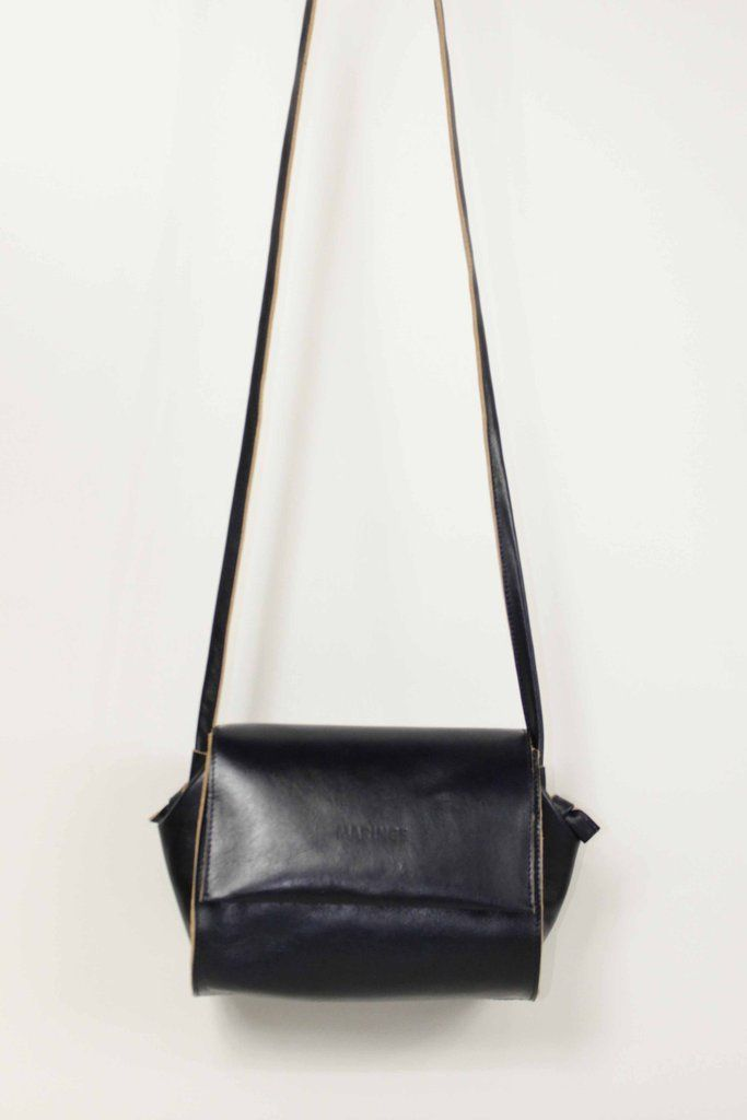 Shoulderbag 'Bubba' black with a touch of Brown