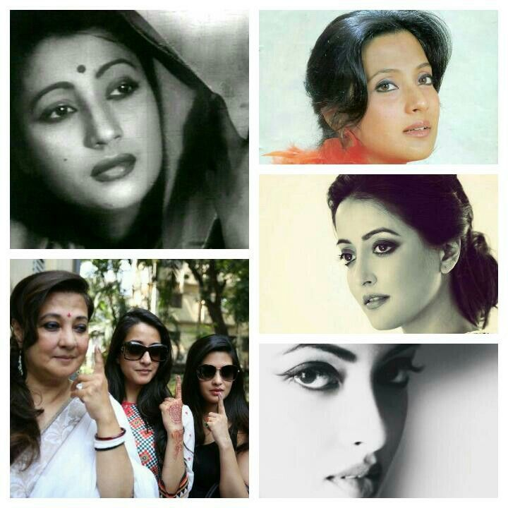 Bengali beauties  of Bollywood: 3 generations,Suchitra  Sen,Moon Moon  Sen & her two daughters Raima & Riya