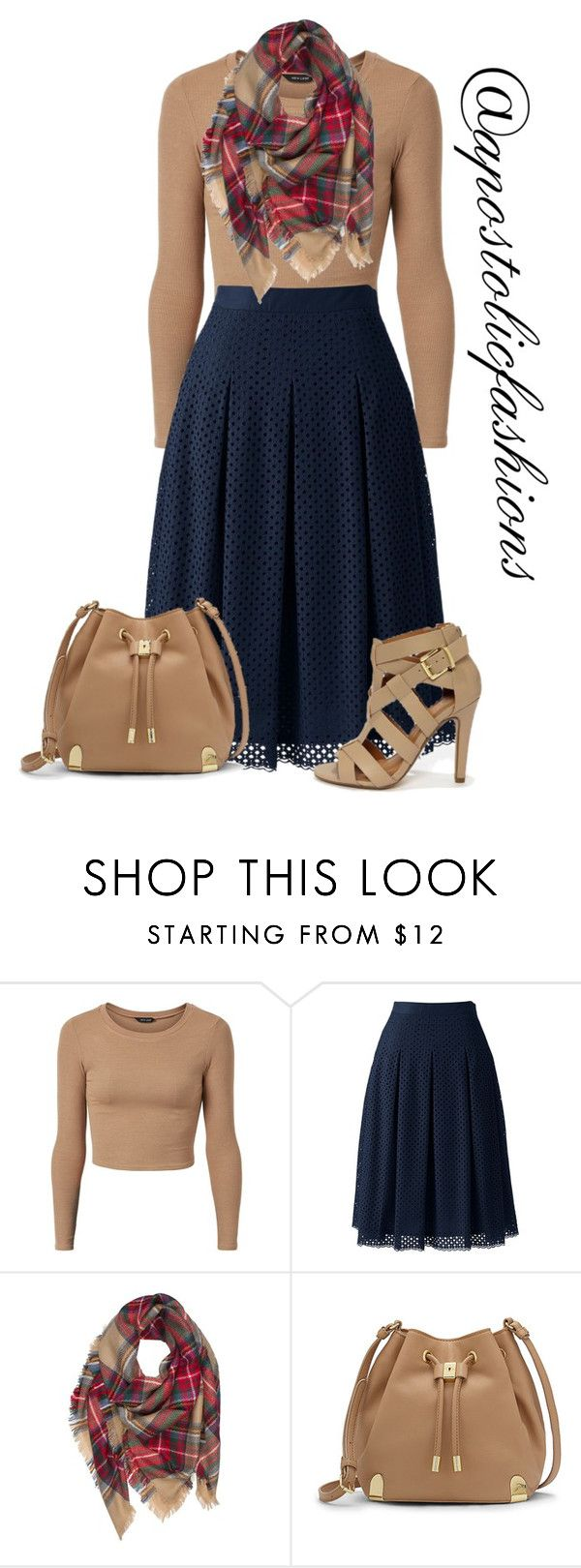 """Apostolic Fashions #1375"" by apostolicfashions ❤ liked on Polyvore featuring Lands' End, Vince Camuto, modestlykay and modestlywhit"