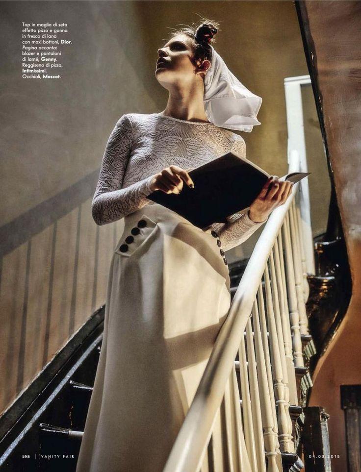 Clara Alonso by Kenneth Willardt for Vanity Fair Italia 4th March 2015 dior