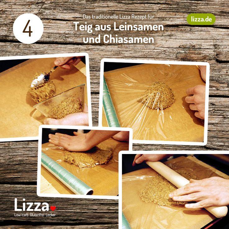 Low-carb Pizza Teig aus Chia- und Leinsamen Schritt 4