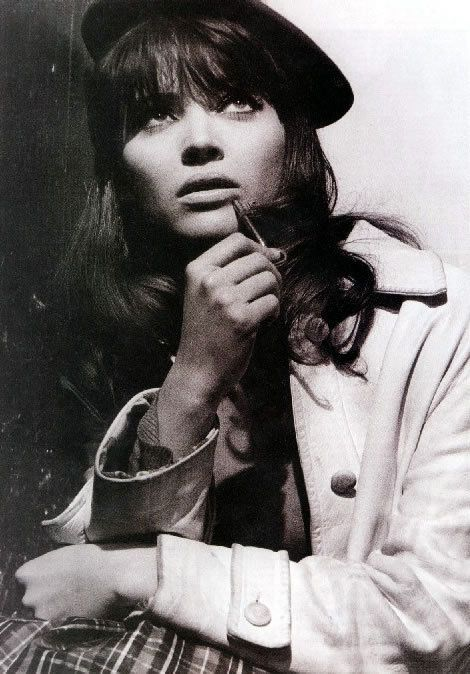 Originally named Hanne Karin Bayer (très faute) but, thanks to Mommy Coco, was renamed Anna Karina. You know you've perfected the heavy feline-inspired eyeliner, rattan toppers, sailor caps and berets when the Parisian fashion goddess renames you.