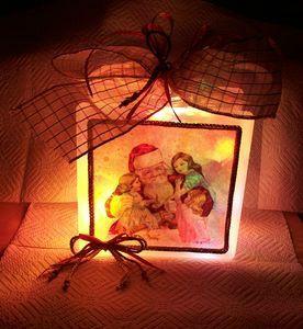 Photophore Père Noël et enfants