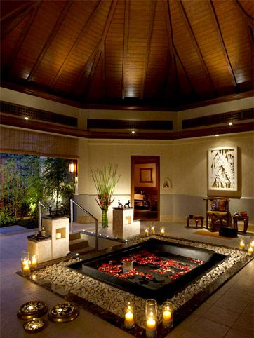 This spa inspires me to do something different with my master bath ceiling.